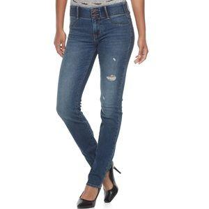 Apt 9 destructed comfort waistband jeans